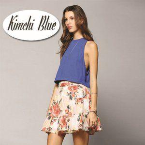 Kimchi Blue Tiered Floral Miniskirt -Size Large